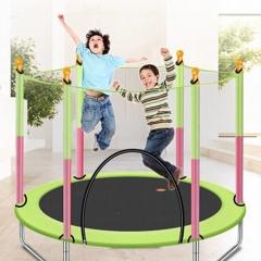 유아 어린이 안전망 점핑 트램폴린 트램펄린 방방이 그린
