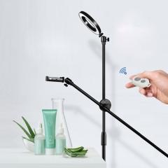 LED촬영 조명 링라이트 스마트폰 수직 촬영 삼각대 스탠드형