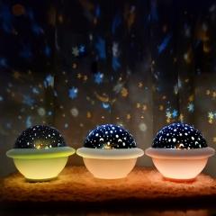 UFO 미러볼 우주 투영램프무드등 별빛투영등 화이트